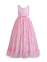 cheap -Kids Girls' Vintage / Active Party / Holiday Solid Colored Mesh Sleeveless Midi Dress / Cotton