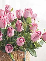 Недорогие -Искусственные Цветы 1 Филиал Классический Винтаж / европейский Розы Букеты на стол