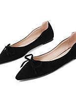 Недорогие -Жен. Обувь Замша Лето Удобная обувь На плокой подошве На плоской подошве Белый / Черный / Розовый