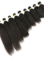 Недорогие -6 Связок Бразильские волосы Естественные прямые Натуральные волосы Человека ткет Волосы / Пучок волос / One Pack Solution 8-28 дюймовый Естественный цвет Ткет человеческих волос