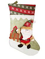 baratos -Meias Finas Férias Tecido de Algodão Quadrada Novidades Decoração de Natal