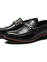 Недорогие -Муж. Полиуретан Осень Удобная обувь Мокасины и Свитер Черный / Оранжевый / Красный