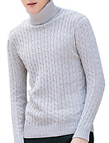 cheap -Men's Long Sleeve Pullover - Solid Colored Turtleneck