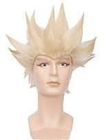 Недорогие -Wig Accessories Прямой Ассиметричная стрижка Искусственные волосы 12 дюймовый Кейс Красный / Черный Парик Муж. Короткие Без шапочки-основы Зеленый