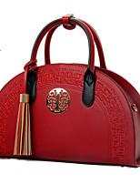 cheap -Women's Bags PU(Polyurethane) Tote Zipper / Tassel Red / Beige / Khaki