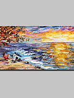 cheap -Oil Painting Hand Painted - Abstract / Landscape Modern Canvas