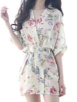 abordables -Costumes Vêtement de nuit Femme - Maille, Fleur