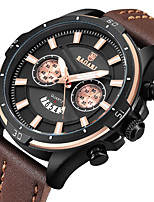 cheap -Men's Sport Watch Wrist Watch Japanese Quartz Calendar / date / day Casual Watch Cool Genuine Leather Band Analog Luxury Fashion Black / Blue / Brown - Blue Black / Gray Black / Rose Gold