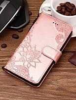 billiga -fodral Till Apple iPhone X / iPhone 8 / iPhone XS Plånbok / Korthållare / med stativ Fodral Blomma Hårt PU läder för iPhone XS / iPhone XR / iPhone XS Max