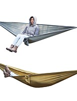 cheap -Camping Hammock Outdoor Lightweight, Wearable, Breathability Nylon for Camping / Travel Brown / Gray