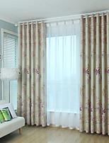 abordables -Rideaux occultants rideaux Chambre à coucher Fleur Mélange de polyester Imprimé / Occultant
