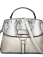 cheap -Women's Bags PU(Polyurethane) Tote Pattern / Print Black / Brown / Light Grey