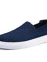 cheap -Men's Comfort Shoes PU(Polyurethane) / Elastic Fabric Fall Casual Loafers & Slip-Ons Non-slipping Black / Gray / Blue