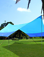 cheap -BSwolf 5 person Canopy Tent Single Layered Poled Camping Tent One Room  Outdoor Windproof 2000-3000 mm  for Fishing Oxford Cloth 420*350*250 cm / Rain-Proof