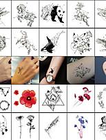 economico -40 pcs Tatuaggi temporanei Serie totem / Serie animali Adesivo liscio / Sicurezza arti del corpo Viso / Corpo / polso / Tatuaggi temporanei stile decalcomania