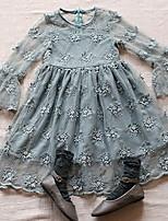 economico -Bambino (1-4 anni) Da ragazza Tinta unita Manica lunga Vestito