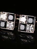 cheap -Geometric Golden Cufflinks Crystal / Copper Basic / Elegant Men's Costume Jewelry For Party / Gift