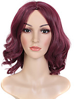 cheap -Synthetic Wig Wavy Burgundy Middle Part Synthetic Hair 14 inch Women / Middle Part / African American Wig Burgundy Wig Women's Mid Length Capless Dark Wine