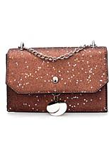cheap -Women's Bags PU(Polyurethane) Evening Bag Sequin / Buttons Red / Brown / Silver