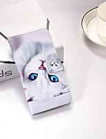 billiga -fodral Till Apple iPhone X / iPhone 8 Plus / iPhone XS Plånbok / med stativ / Lucka Fodral Katt Hårt PU läder för iPhone XS / iPhone XR / iPhone XS Max
