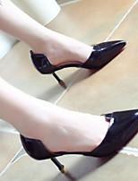 Недорогие -Жен. Комфортная обувь Полиуретан Весна & осень Обувь на каблуках На конусовидном каблуке Черный / Серый / Розовый