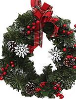 abordables -Guirlandes / Décorations de Noël Vacances Plastique Rond Nouveautés Décoration de Noël