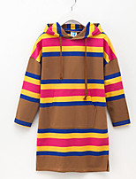 cheap -Kids Girls' Active Striped / Color Block Long Sleeve Dress