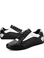 cheap -Men's Nappa Leather Spring / Fall Comfort Sneakers Black
