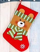 Недорогие -Чулки Мультяшная тематика Хлопковая ткань Квадратный Оригинальные Рождественские украшения