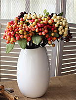 cheap -Artificial Flowers 5 Branch Classic European / Pastoral Style Fruit Tabletop Flower