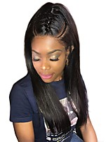 cheap -Human Hair Lace Front Wig Brazilian Hair / Burmese Hair Straight Wig 130% Women / Easy dressing / Best Quality Natural Women's Long Human Hair Lace Wig