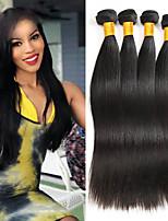 abordables -4 offres groupées Cheveux Indiens / Cheveux Vietnamiens Droit Non Traités / Cheveux humains Costumes Cosplay / Tissages de cheveux humains / Parfums pour Fête du thé 8-28 pouce Tissages de cheveux