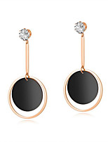 cheap -Women's Classic / Stylish Hoop Earrings - Rose Gold Plated, Stainless, 18K Gold Stylish, Tassel, Korean Rose Gold For Wedding / Daily