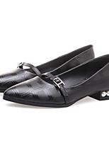 abordables -Femme Chaussures Microfibre Printemps Escarpin Basique Chaussures à Talons Talon Bas Noir / Vin