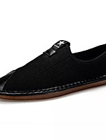 cheap -Men's Comfort Shoes Canvas Summer Loafers & Slip-Ons Black / Gray