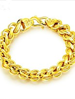 cheap -Men's Stylish Chain Bracelet - 18K Gold Plated Creative Fashion Bracelet Gold For Party / Daily