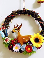 economico -Ornamenti di Natale Vacanza di legno Tonda di legno Decorazione natalizia