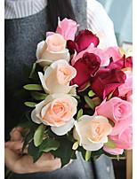 baratos -Flores artificiais 10 Ramo Clássico Estiloso / Modern Rosas Flor de Mesa