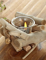 cheap -Modern / Contemporary Wooden / Glasses Candle Holders Candelabra 1pc, Candle / Candle Holder