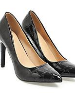 baratos -Mulheres Sapatos Couro Primavera Plataforma Básica Saltos Salto Agulha Branco / Preto / Rosa claro