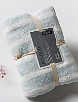 abordables -Qualité supérieure Serviette de bain, Rayé Polyester / Coton Salle de  Bain 1 pcs