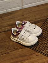 baratos -Para Meninos / Para Meninas Sapatos Couro Ecológico Primavera & Outono Primeiros Passos Tênis Velcro para Bebê Dourado / Preto / Roxo