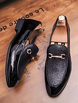 Недорогие -Муж. Официальная обувь Искусственная кожа Осень Мокасины и Свитер Контрастных цветов Черный / Серый / Свадьба / Для вечеринки / ужина
