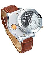 baratos -Homens Relógio de Pulso Japanês Cronógrafo / Criativo / Novo Design PU Banda Luxo / Rígida Preta / Marrom