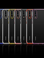 cheap -Case For Huawei P20 / P20 lite Plating / Transparent Back Cover Solid Colored Soft TPU for Huawei P20 / Huawei P20 Pro / Huawei P20 lite
