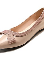 Недорогие -Жен. Обувь Полиуретан Осень Удобная обувь На плокой подошве На плоской подошве Заостренный носок Черный / Миндальный