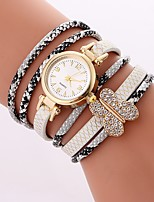 cheap -Women's Bracelet Watch Chinese Casual Watch / Imitation Diamond PU Band Casual / Butterfly White / Blue / Red