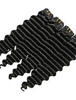 abordables -4 offres groupées Cheveux Indiens / Cheveux Mongoliens Ondulation profonde Non Traités / Cheveux humains Cadeaux / Tissages de cheveux humains / Parfums pour Fête du thé 8-28 pouce Tissages de