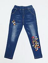 economico -Bambino Da ragazza Essenziale Tinta unita Con ricami Cotone Pantaloni