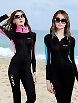 cheap -HISEA® Women's Rash Guard Dive Skin Suit Quick Dry, Breathability, High Elasticity Nylon Long Sleeve Swimwear Beach Wear Diving Suit Patchwork / Stretchy / UPF50+